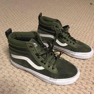 Vans SK8-Hi green high tops- never worn!